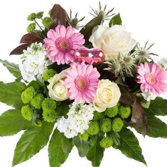 Geschenkeauswahl an Blumensträuße