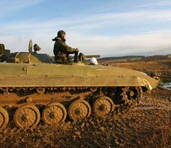 Schützen Panzer als Geschenk