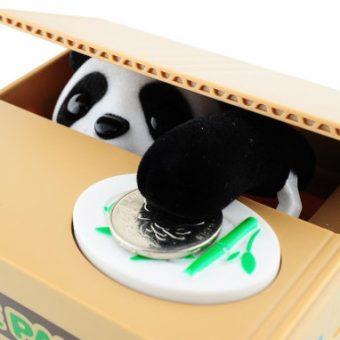 Panda In Obstkiste Spardose